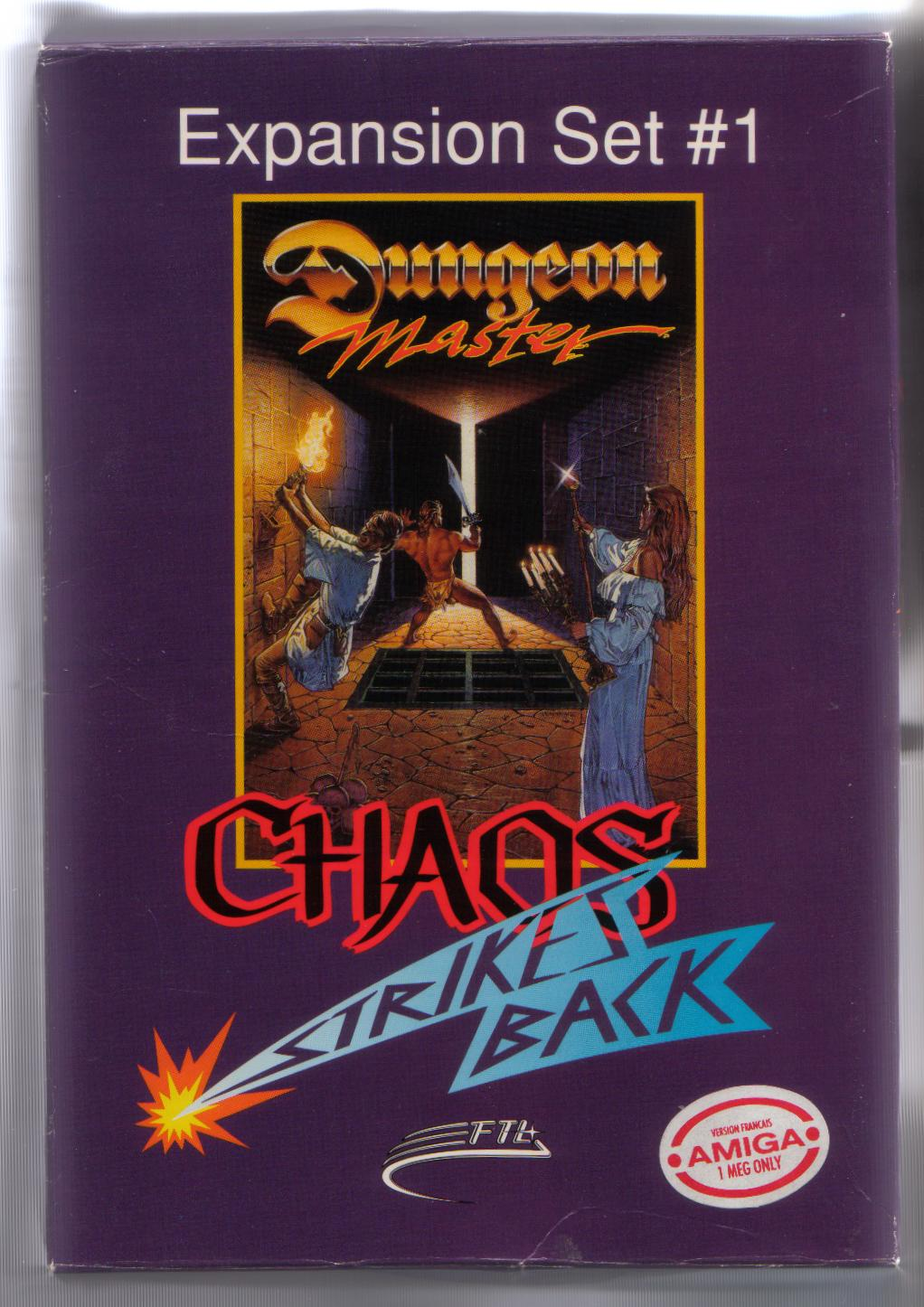 Chaos Strikes Back for Amiga - Box Front (French version)