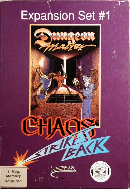 Chaos Strikes Back for Amiga - Box Front