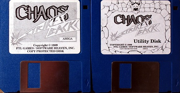 Chaos Strikes Back for Amiga - Disks