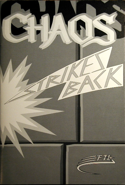 Chaos Strikes Back for Amiga - Manual Front Cover
