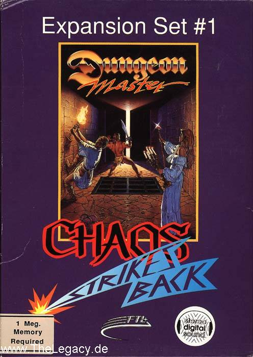 Chaos Strikes Back for Amiga - Box Front (Alternate)