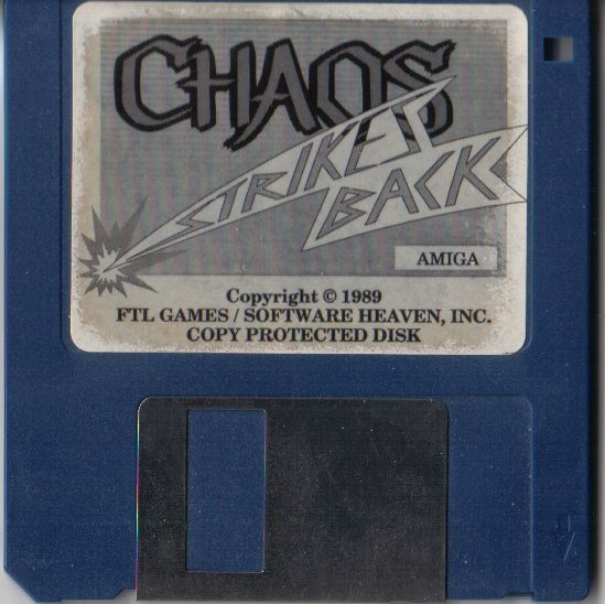 Chaos Strikes Back for Amiga - Game Disk (French version)