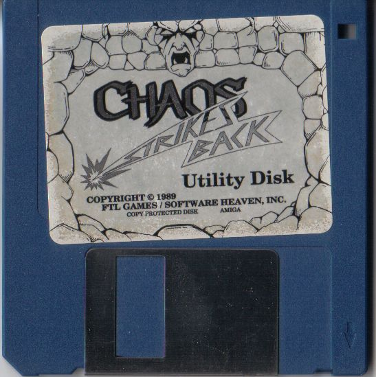 Chaos Strikes Back for Amiga - Utility Disk (French version)