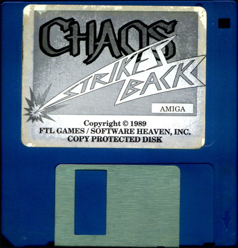 Chaos Strikes Back for Amiga - Game disk