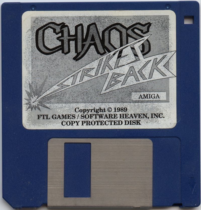 Chaos Strikes Back for Amiga - Game Disk (German version)