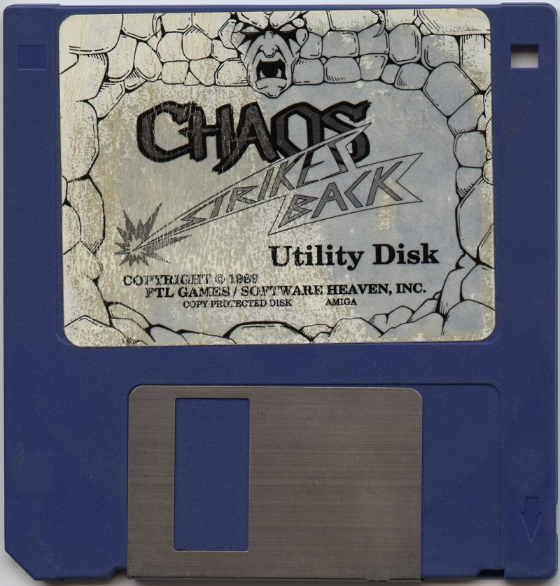 Chaos Strikes Back for Amiga - Utility Disk (German version)