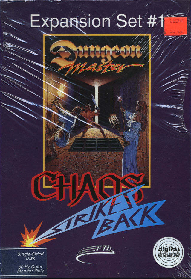 Chaos Strikes Back for Atari ST Box - Front/Side