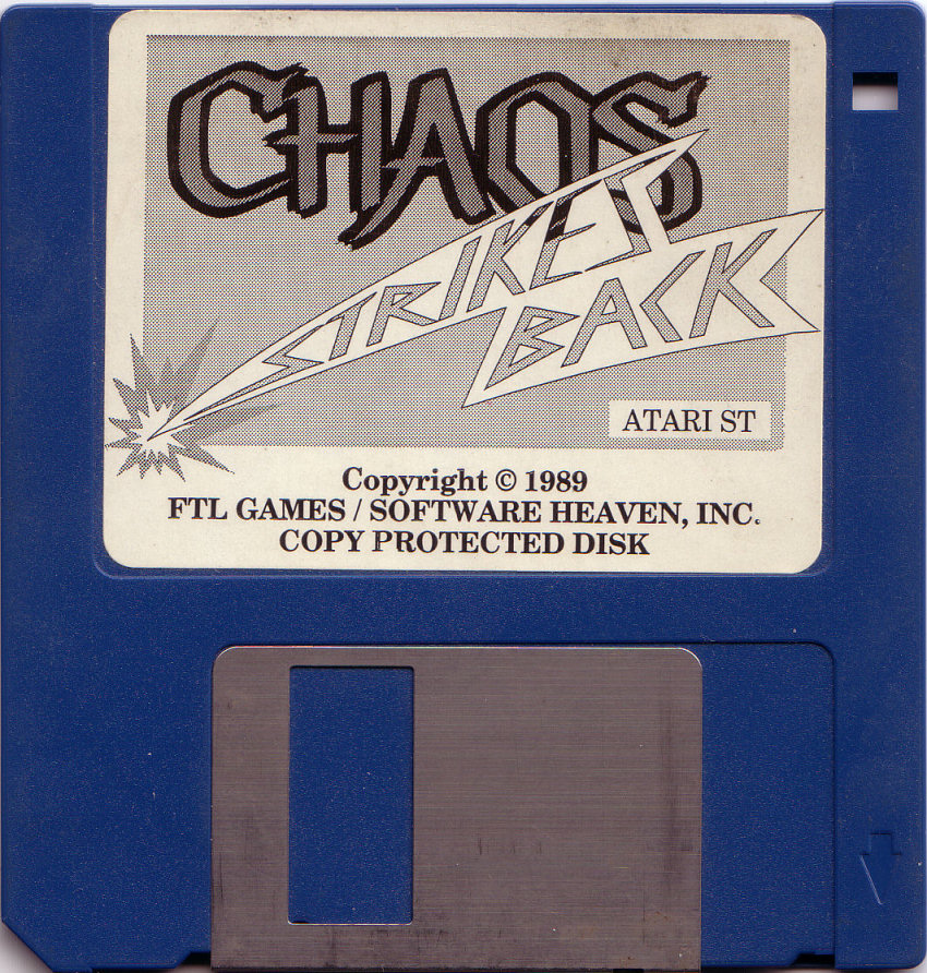 Chaos Strikes Back for Atari ST Game disk