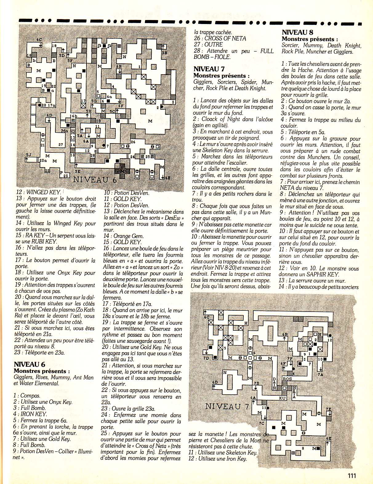 Chaos Strikes Back Guide published in French magazine 'Tilt', Issue #99, February 1992, Page 111