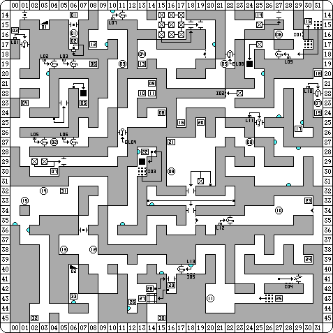 Dungeon Master for PC Map - Level 01
