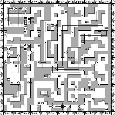 Dungeon Master for PC Map - Level 03