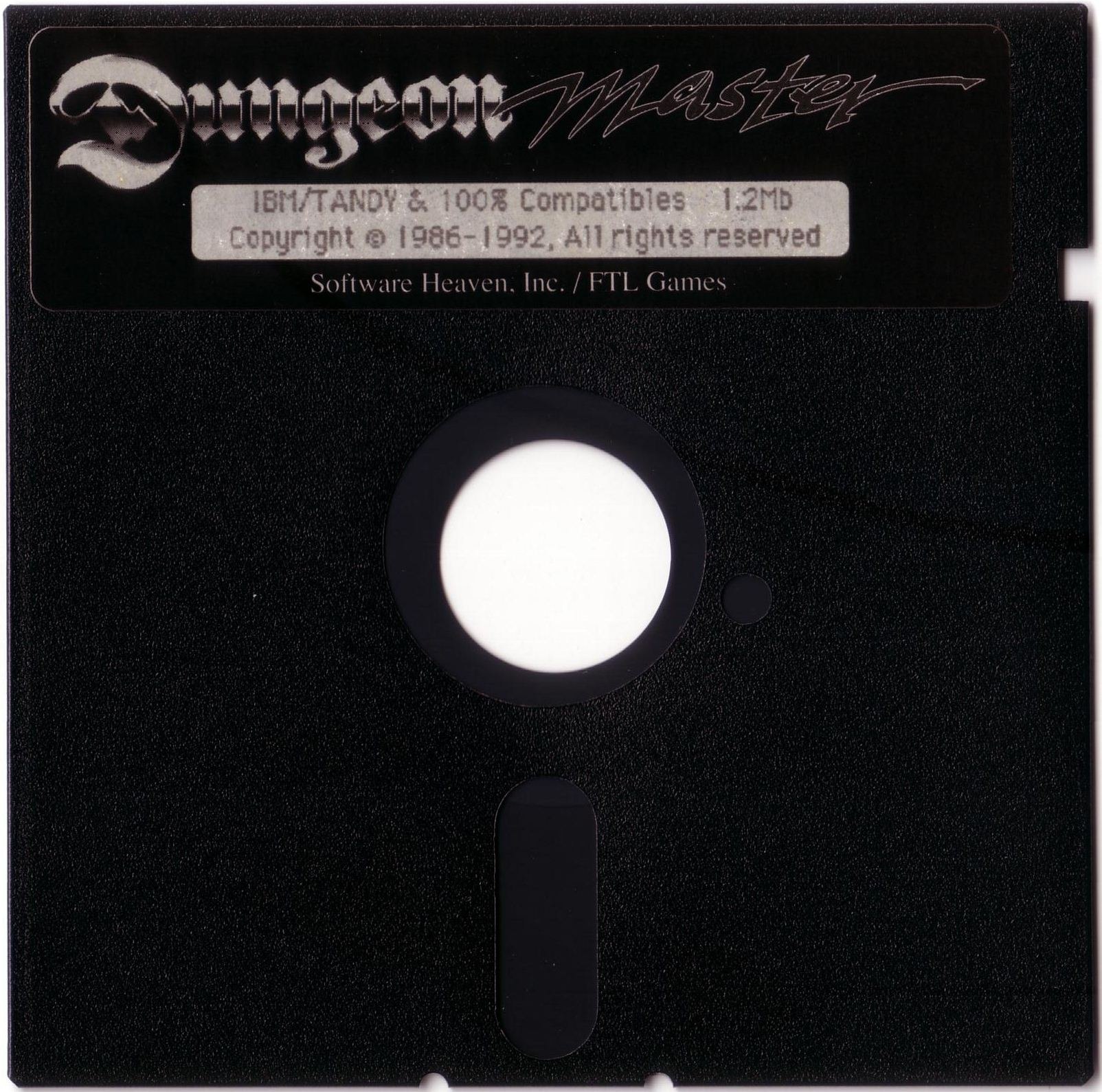 "Dungeon Master for PC with FTL Sound Adapter (US Release) - Floppy Disk 5.25"" Front"