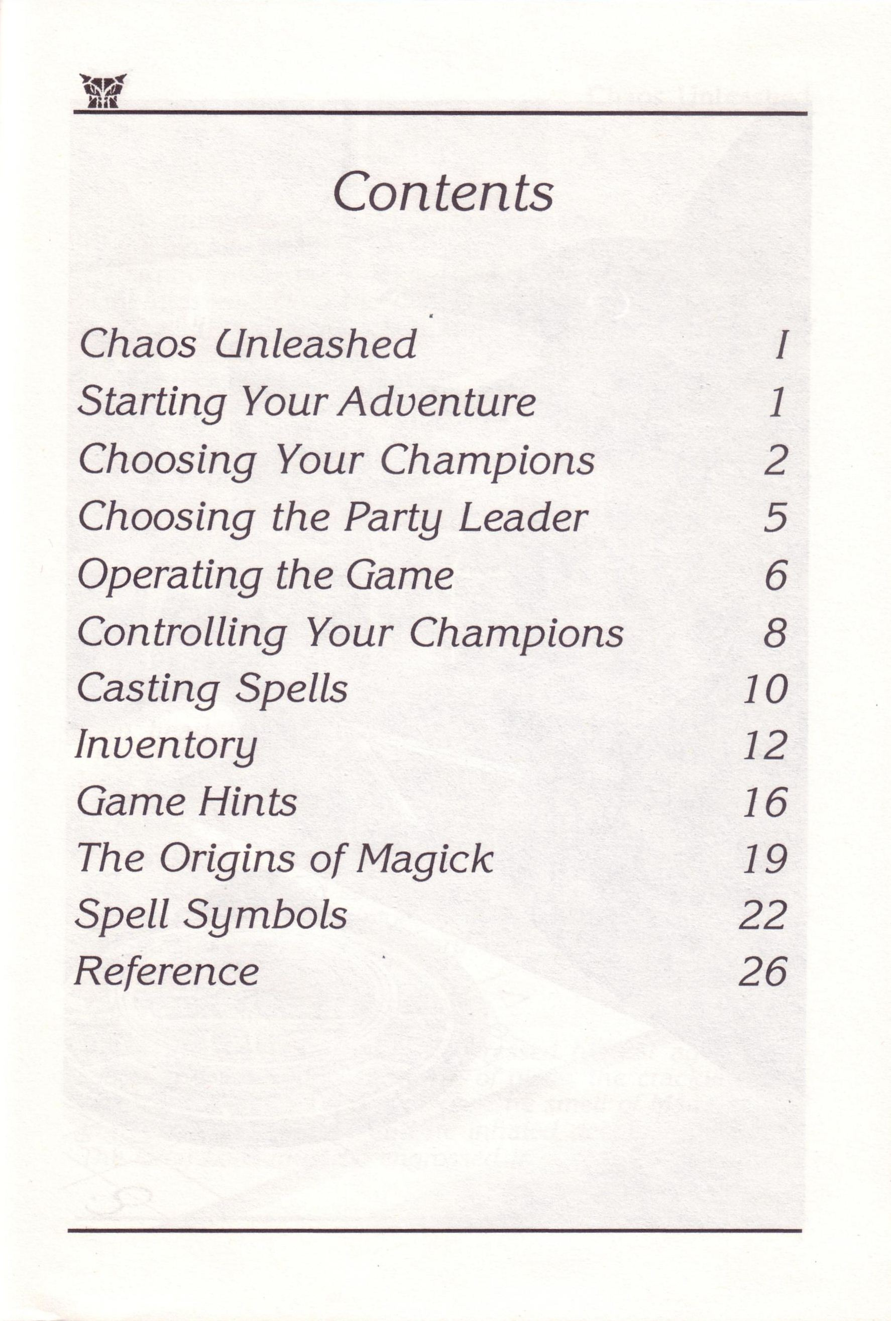Dungeon Master for PC with FTL Sound Adapter (US Release) - Manual Page 05