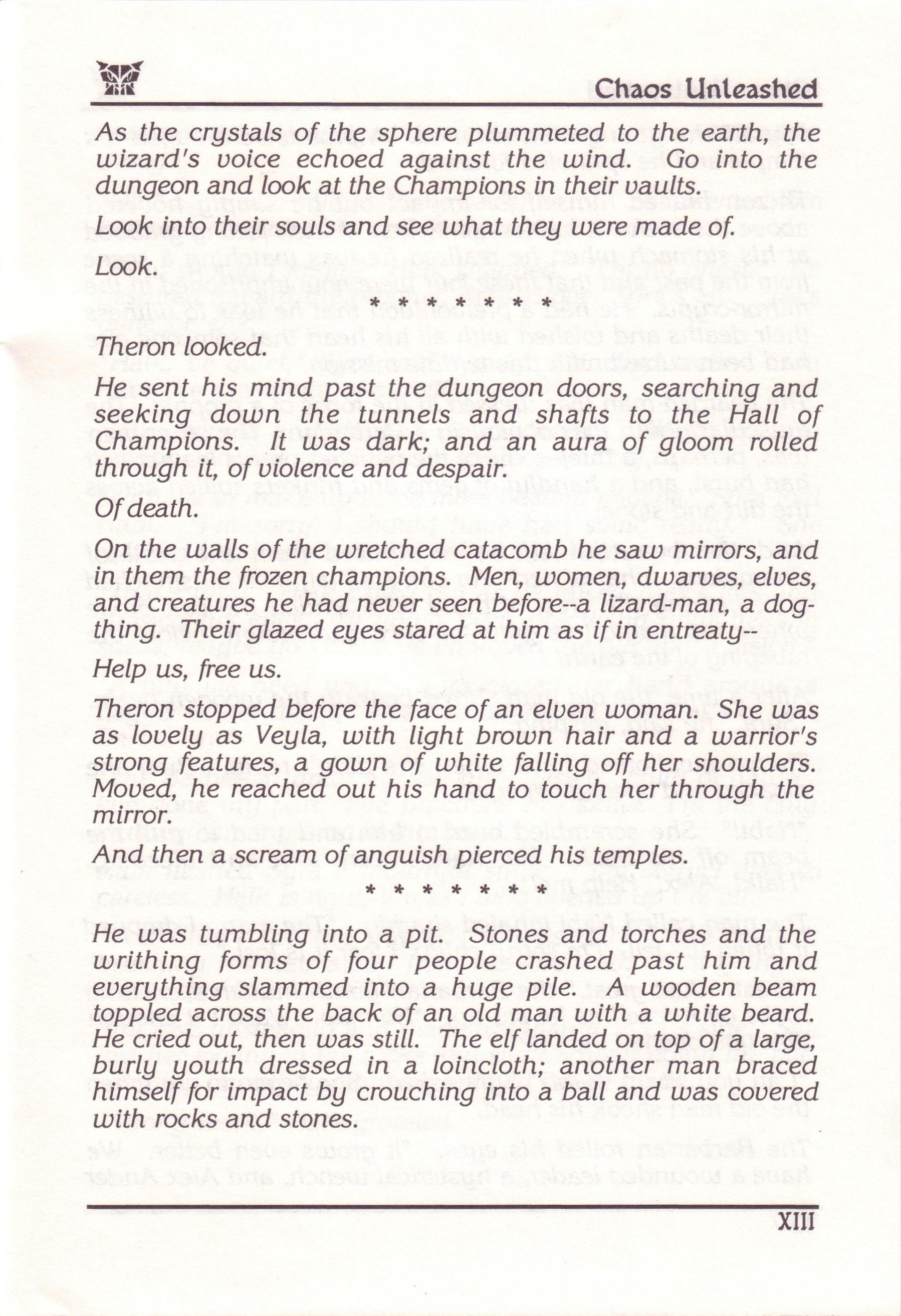 Dungeon Master for PC with FTL Sound Adapter (US Release) - Manual Page 19