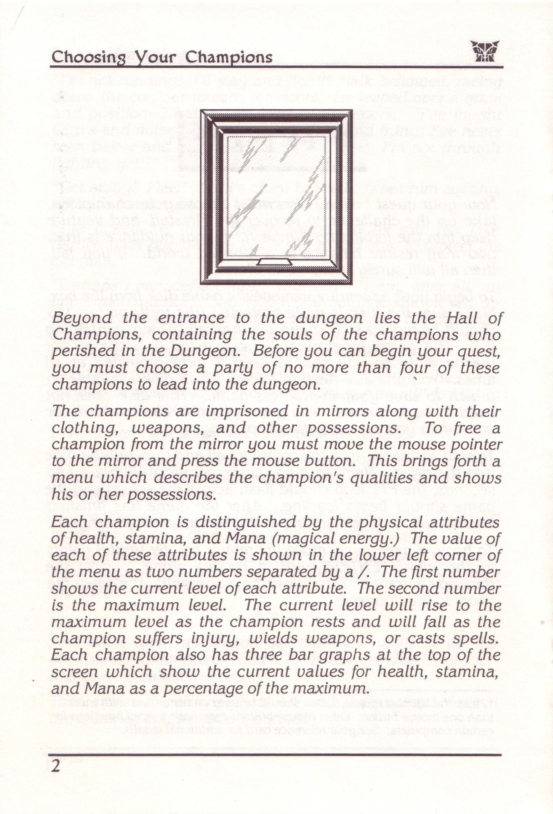 Dungeon Master for PC with FTL Sound Adapter (US Release) - Manual Page 26