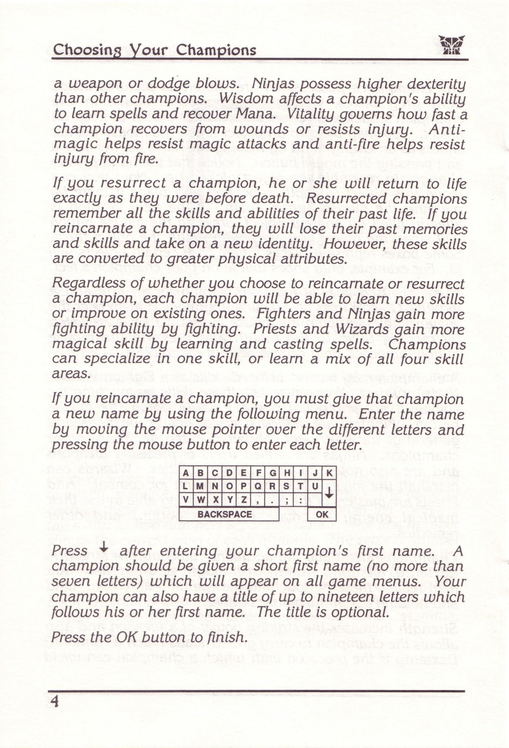 Dungeon Master for PC with FTL Sound Adapter (US Release) - Manual Page 28