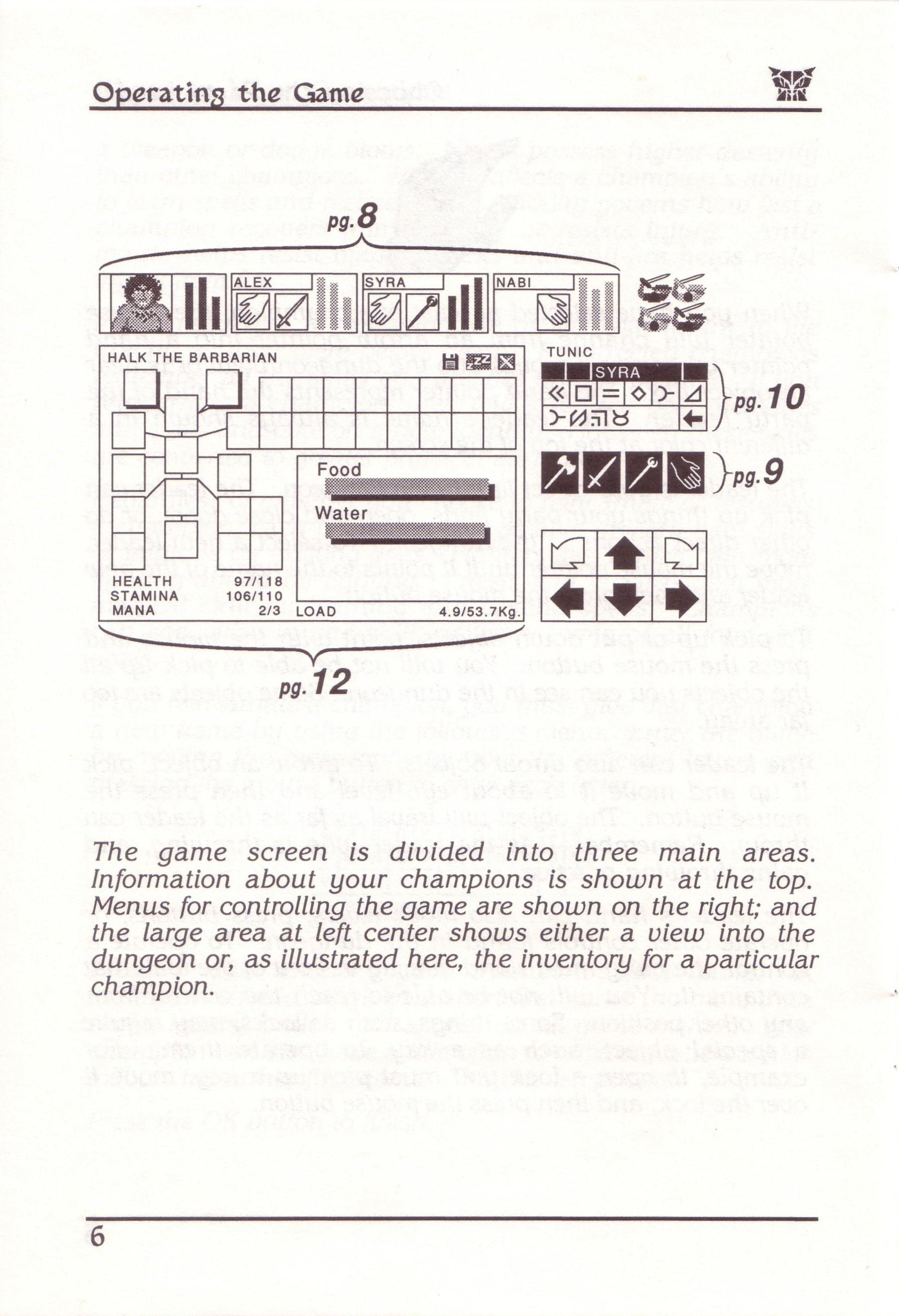 Dungeon Master for PC with FTL Sound Adapter (US Release) - Manual Page 30