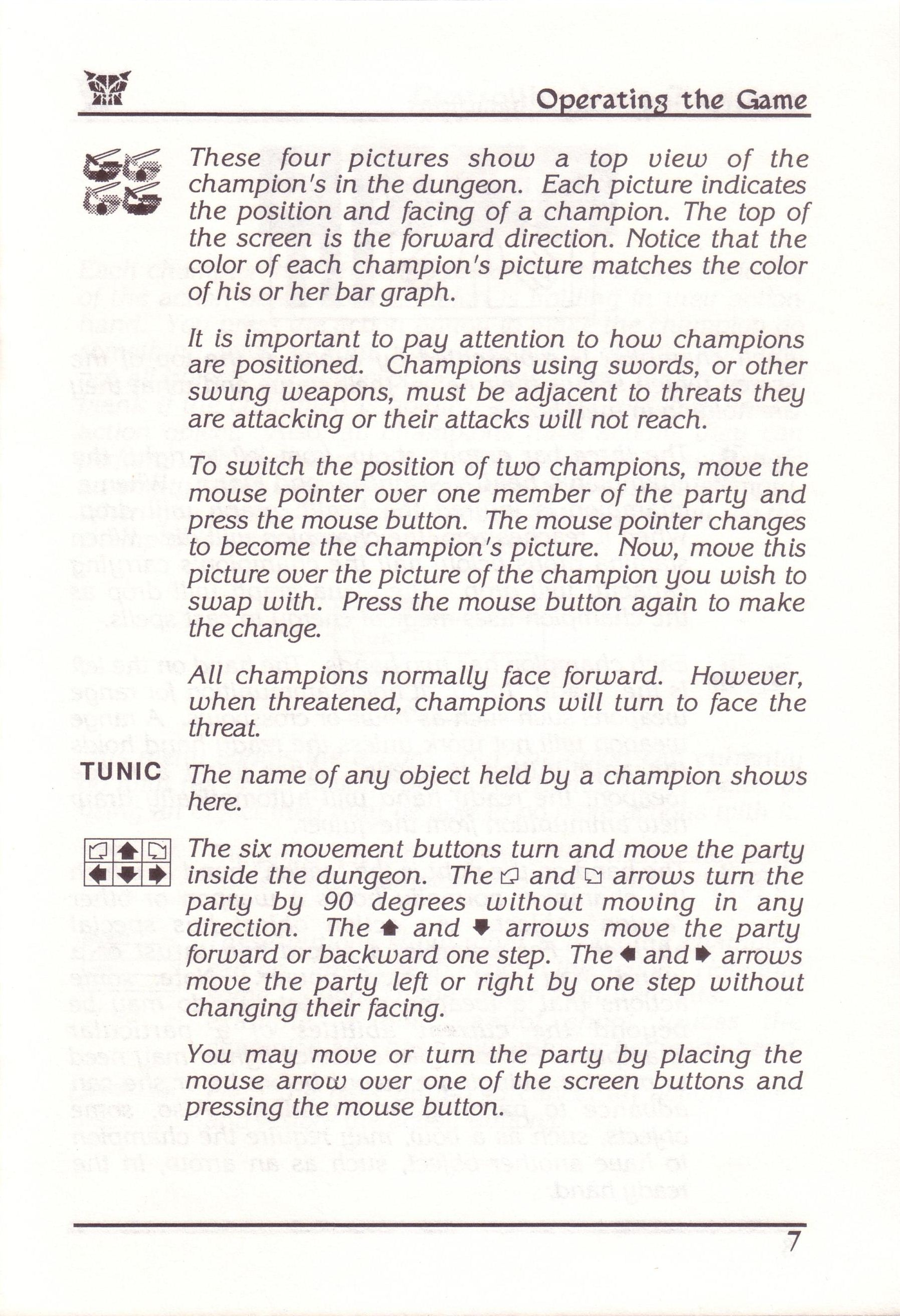 Dungeon Master for PC with FTL Sound Adapter (US Release) - Manual Page 31