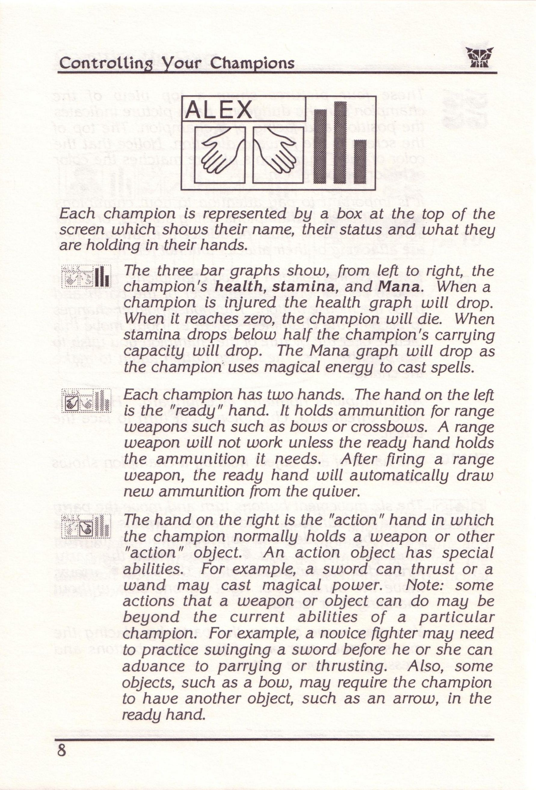 Dungeon Master for PC with FTL Sound Adapter (US Release) - Manual Page 32