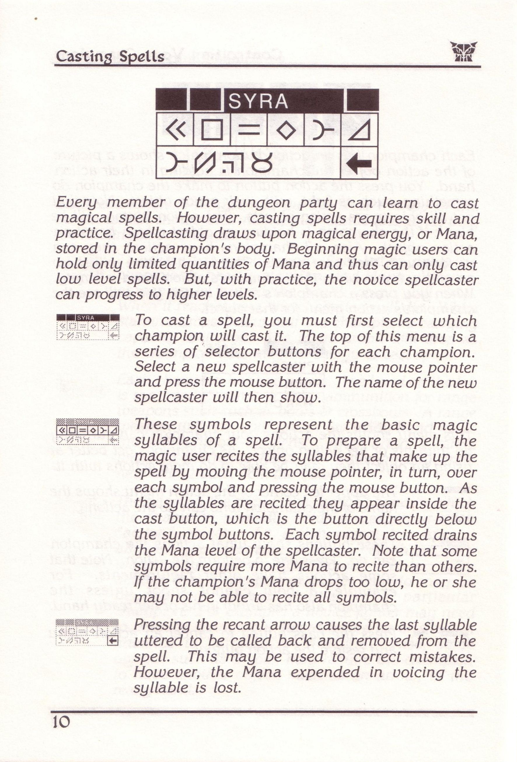 Dungeon Master for PC with FTL Sound Adapter (US Release) - Manual Page 34