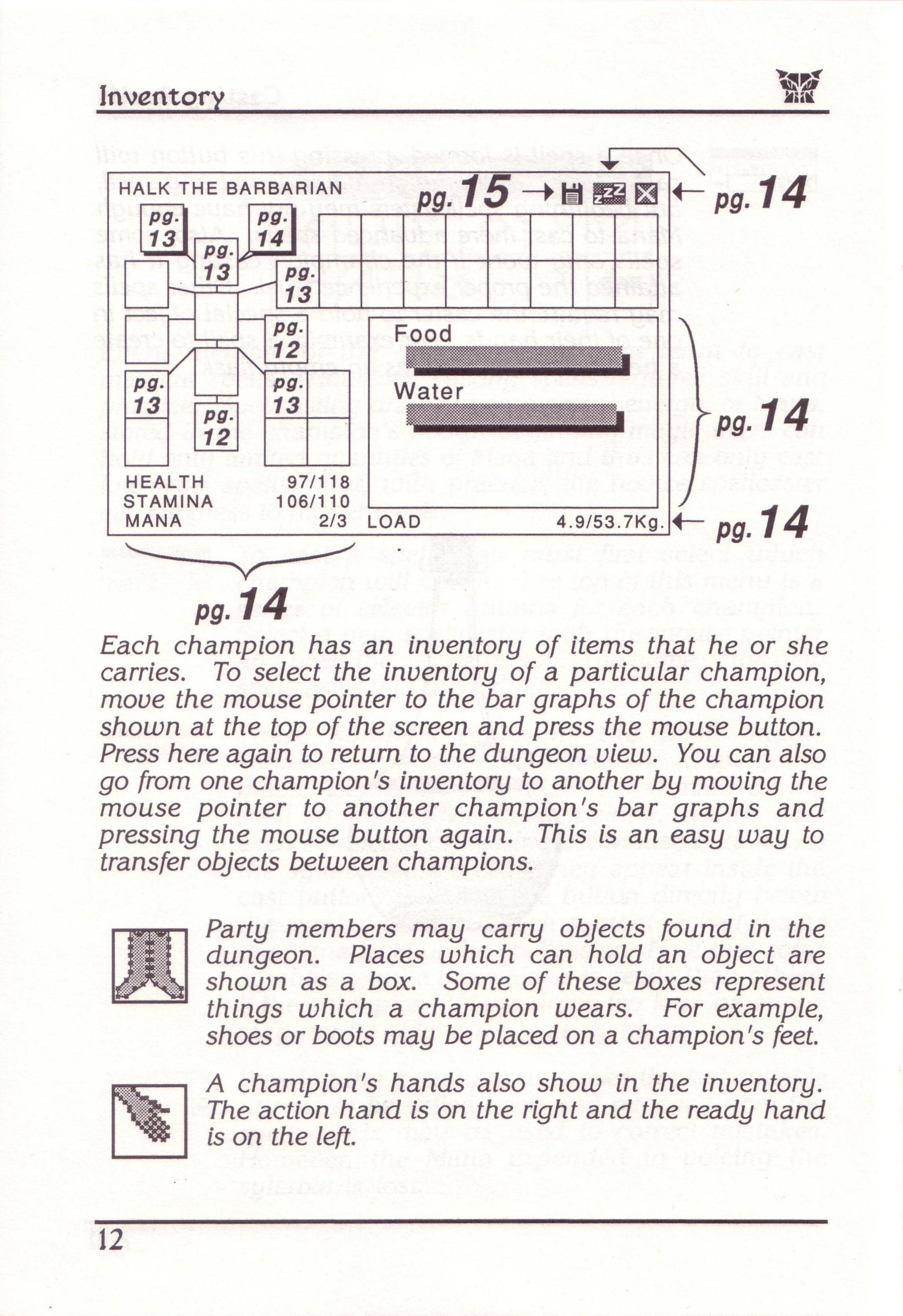 Dungeon Master for PC with FTL Sound Adapter (US Release) - Manual Page 36