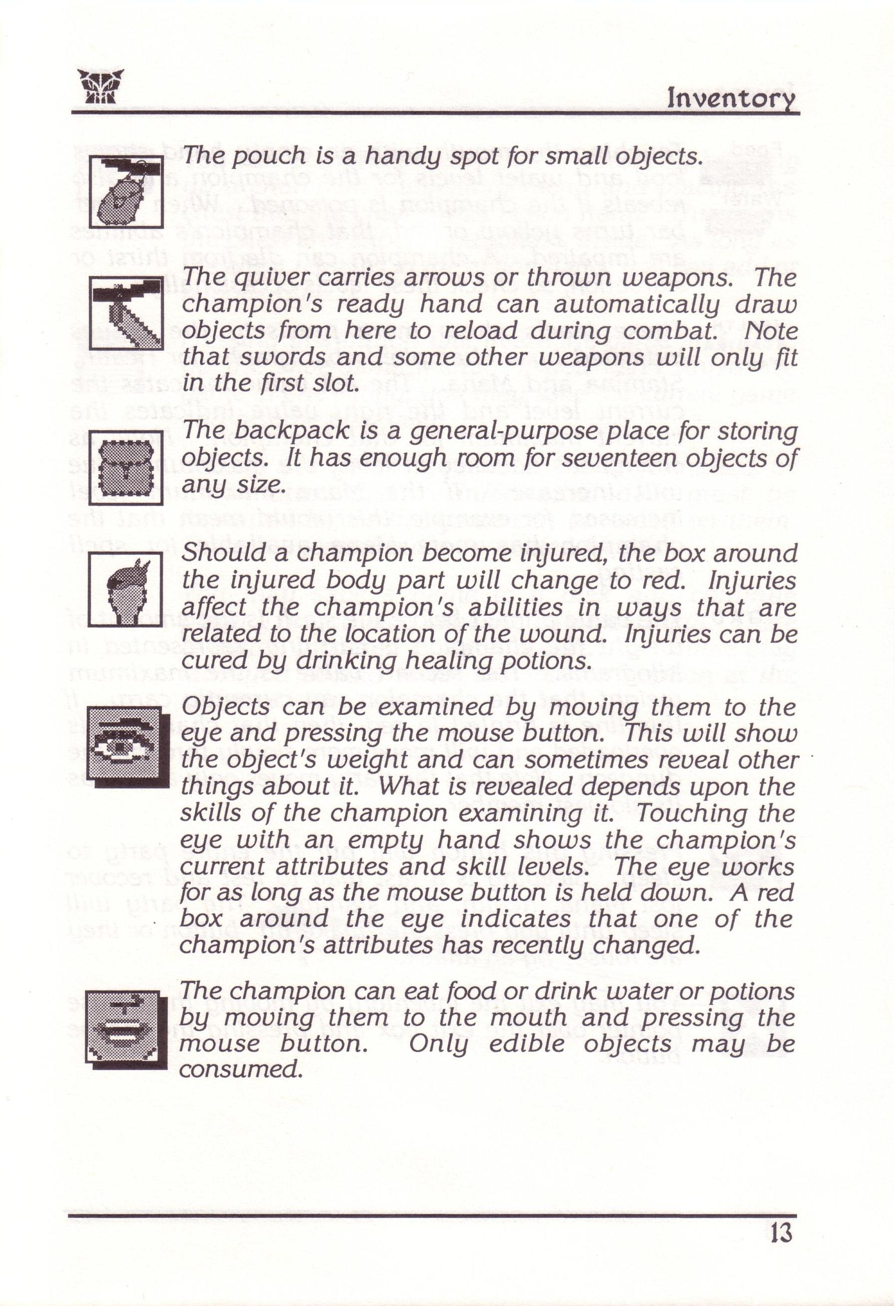 Dungeon Master for PC with FTL Sound Adapter (US Release) - Manual Page 37