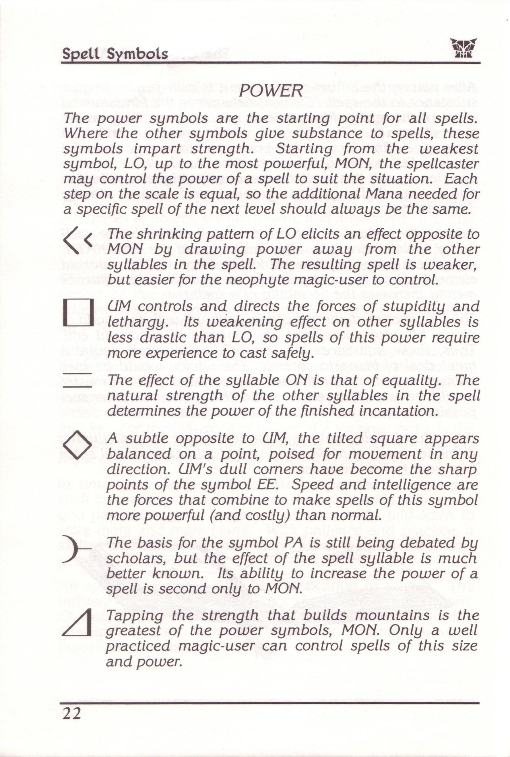 Dungeon Master for PC with FTL Sound Adapter (US Release) - Manual Page 46