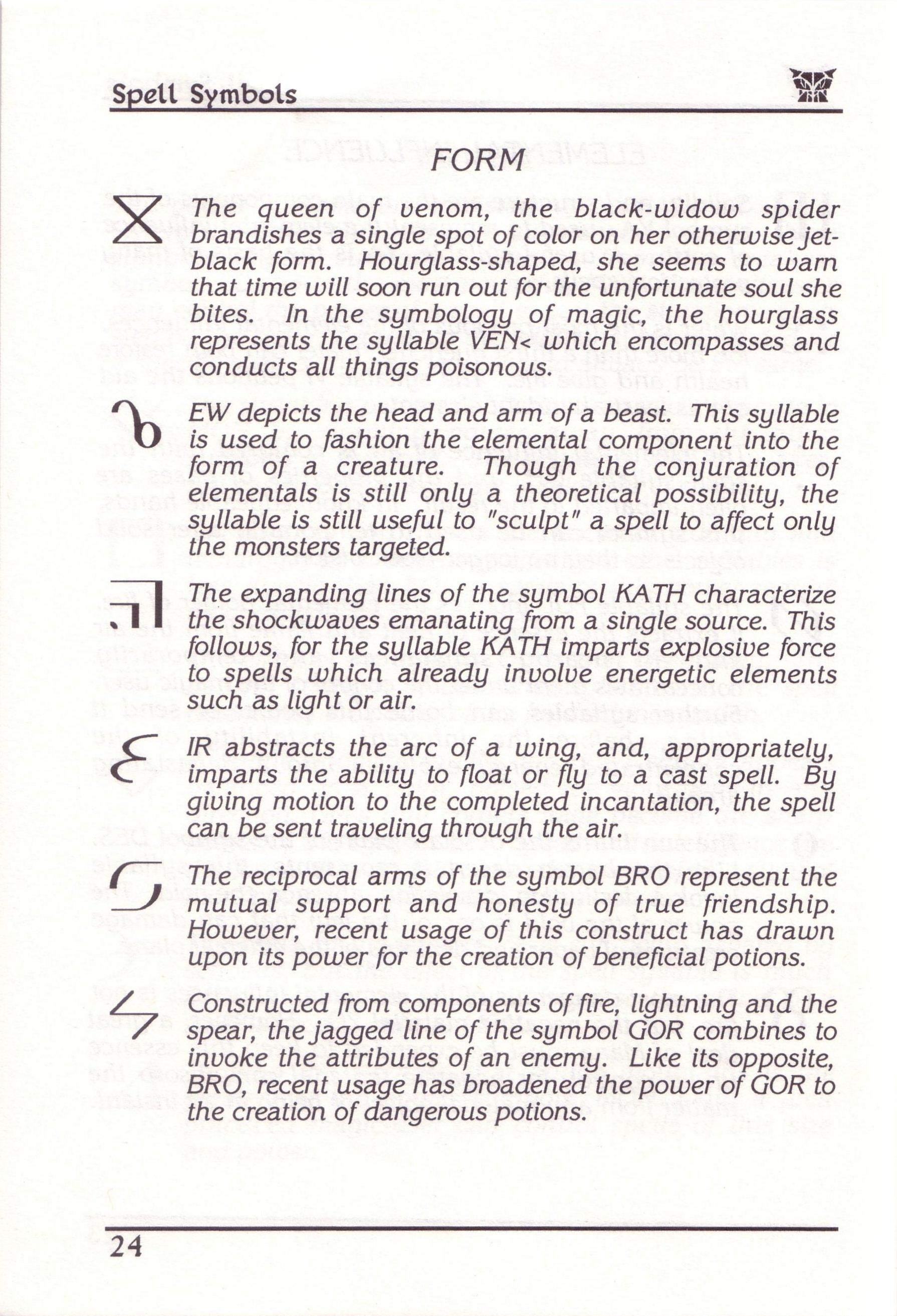Dungeon Master for PC with FTL Sound Adapter (US Release) - Manual Page 48