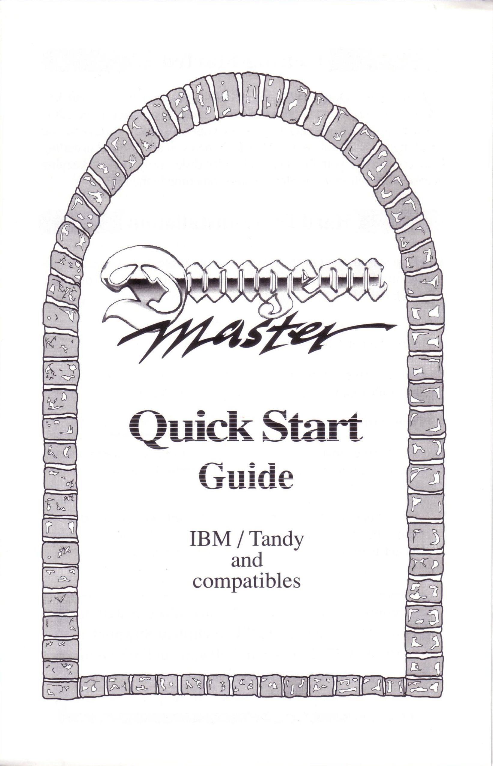 Dungeon Master for PC with FTL Sound Adapter (US Release) - Quick Start Guide Page 1