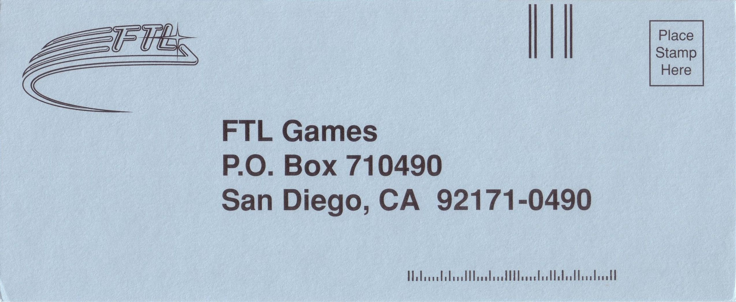 Dungeon Master for PC with FTL Sound Adapter (US Release) - Registration Card Front