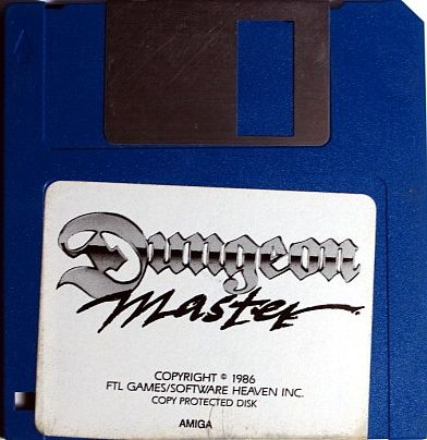 Dungeon Master for Amiga bundled with AmiRAM (Alternate) - Disk