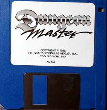 Dungeon Master for Amiga bundled with AmiRAM - Disk