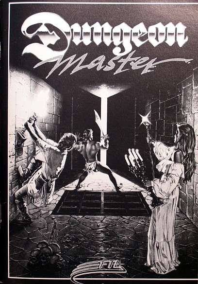 Dungeon Master for Amiga bundled with AmiRAM - Manual Front Cover