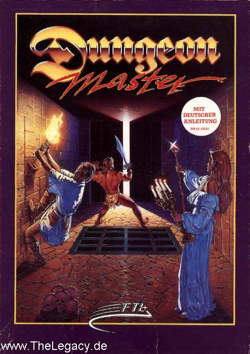 Dungeon Master for Amiga (English, Germany) - Box Front