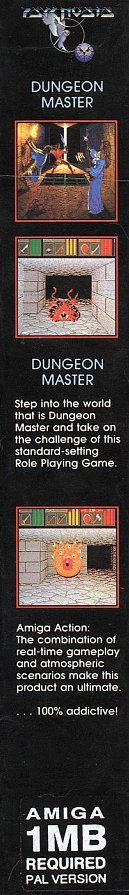 Dungeon Master and Chaos Strikes Back Compilation for Amiga - Box Side