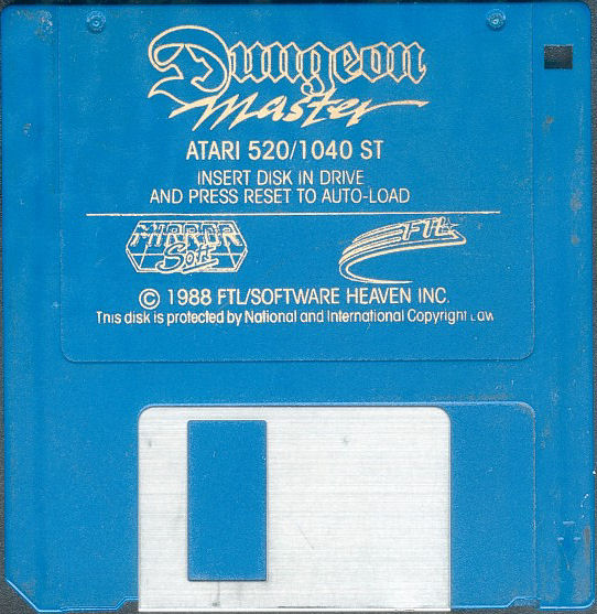 Dungeon Master for Atari ST (Europe, English, MirrorSoft) - Disk