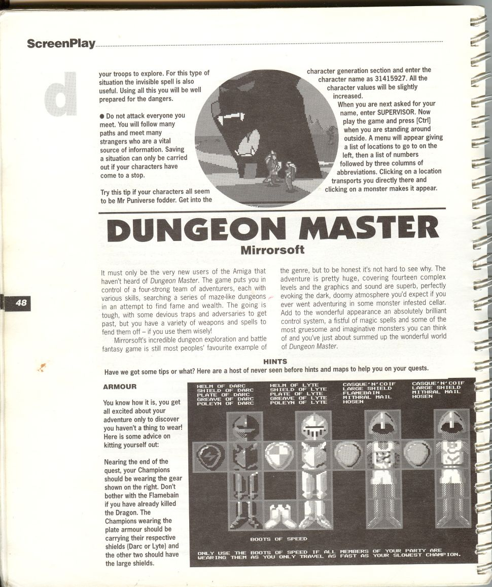 A guide by Bryan Stevens printed in the 'Screen Play' tips book by Amiga Format and Future Publishing Page 1