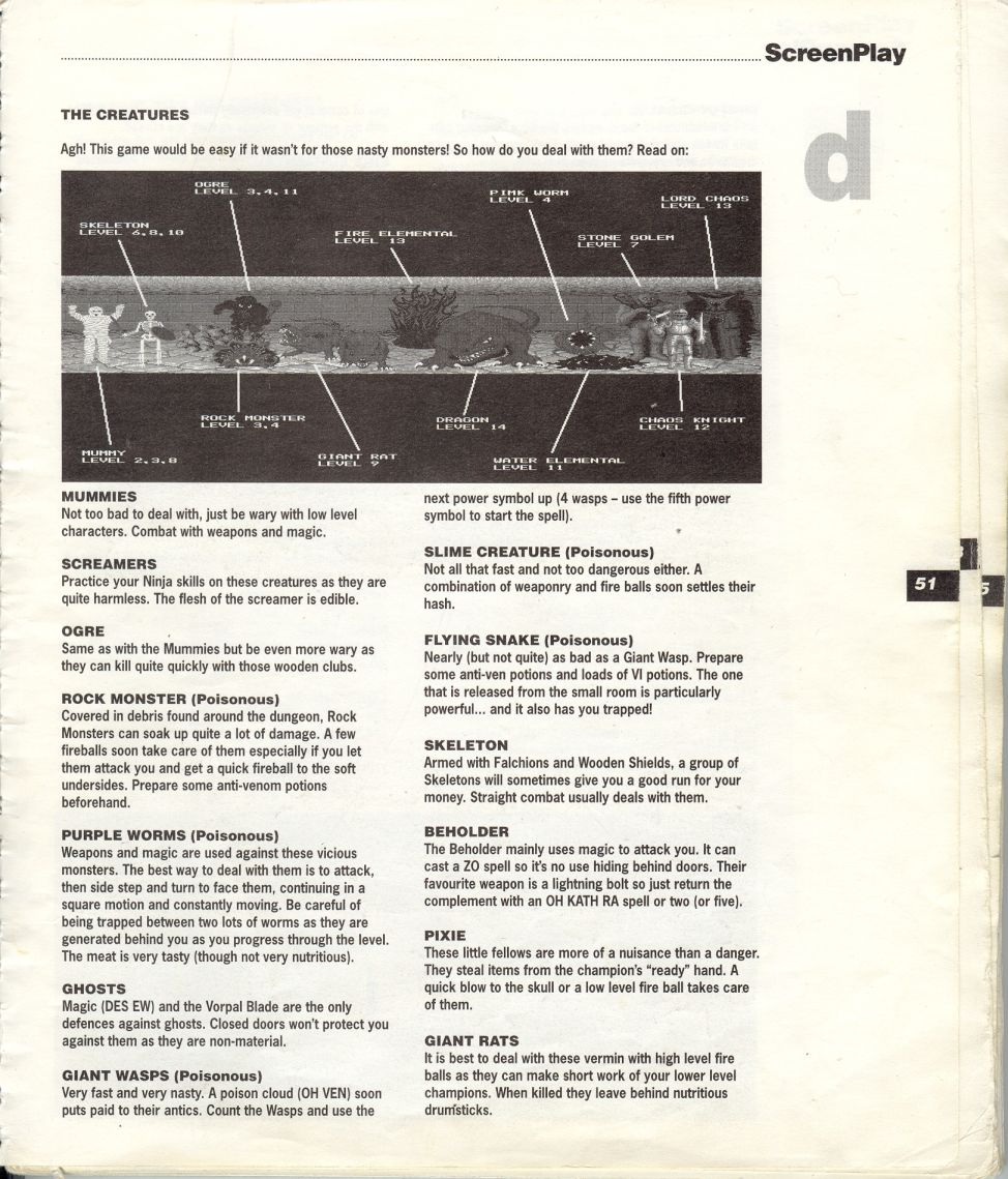 A guide by Bryan Stevens printed in the 'Screen Play' tips book by Amiga Format and Future Publishing Page 4