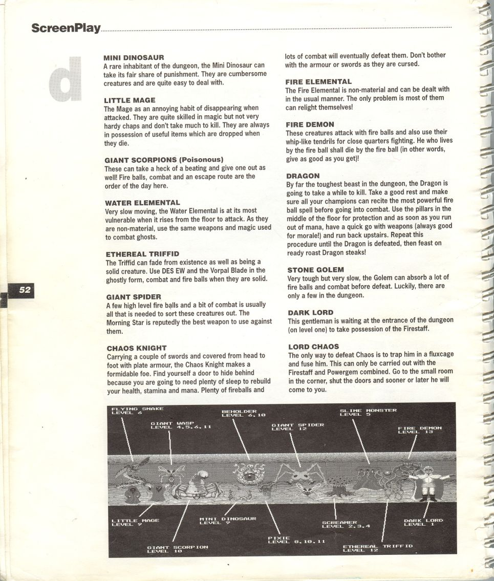 A guide by Bryan Stevens printed in the 'Screen Play' tips book by Amiga Format and Future Publishing Page 5
