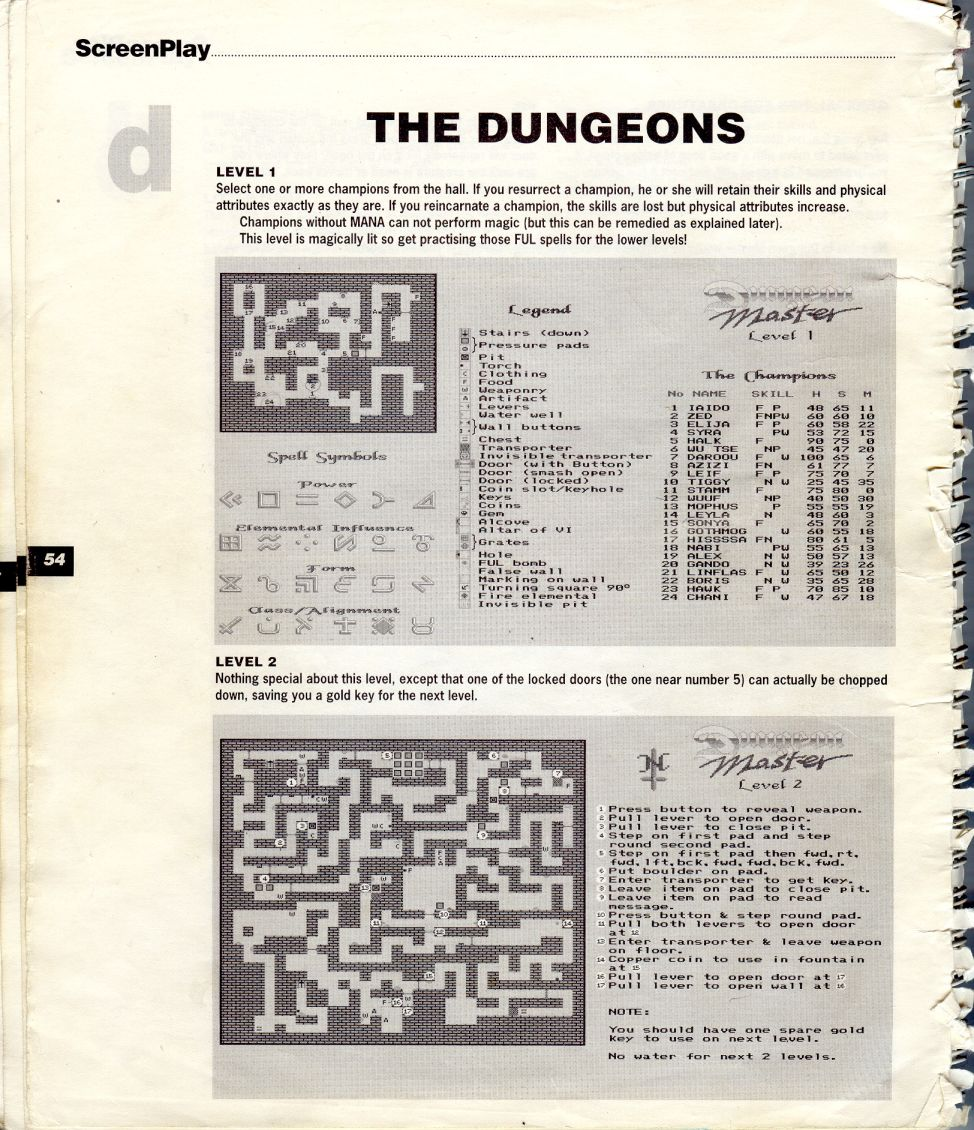 A guide by Bryan Stevens printed in the 'Screen Play' tips book by Amiga Format and Future Publishing Page 7