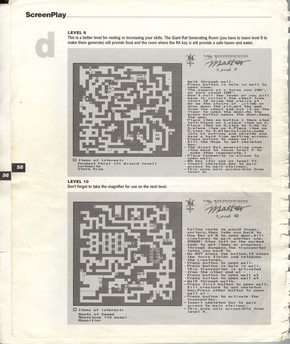 A guide by Bryan Stevens printed in the 'Screen Play' tips book by Amiga Format and Future Publishing Page 11