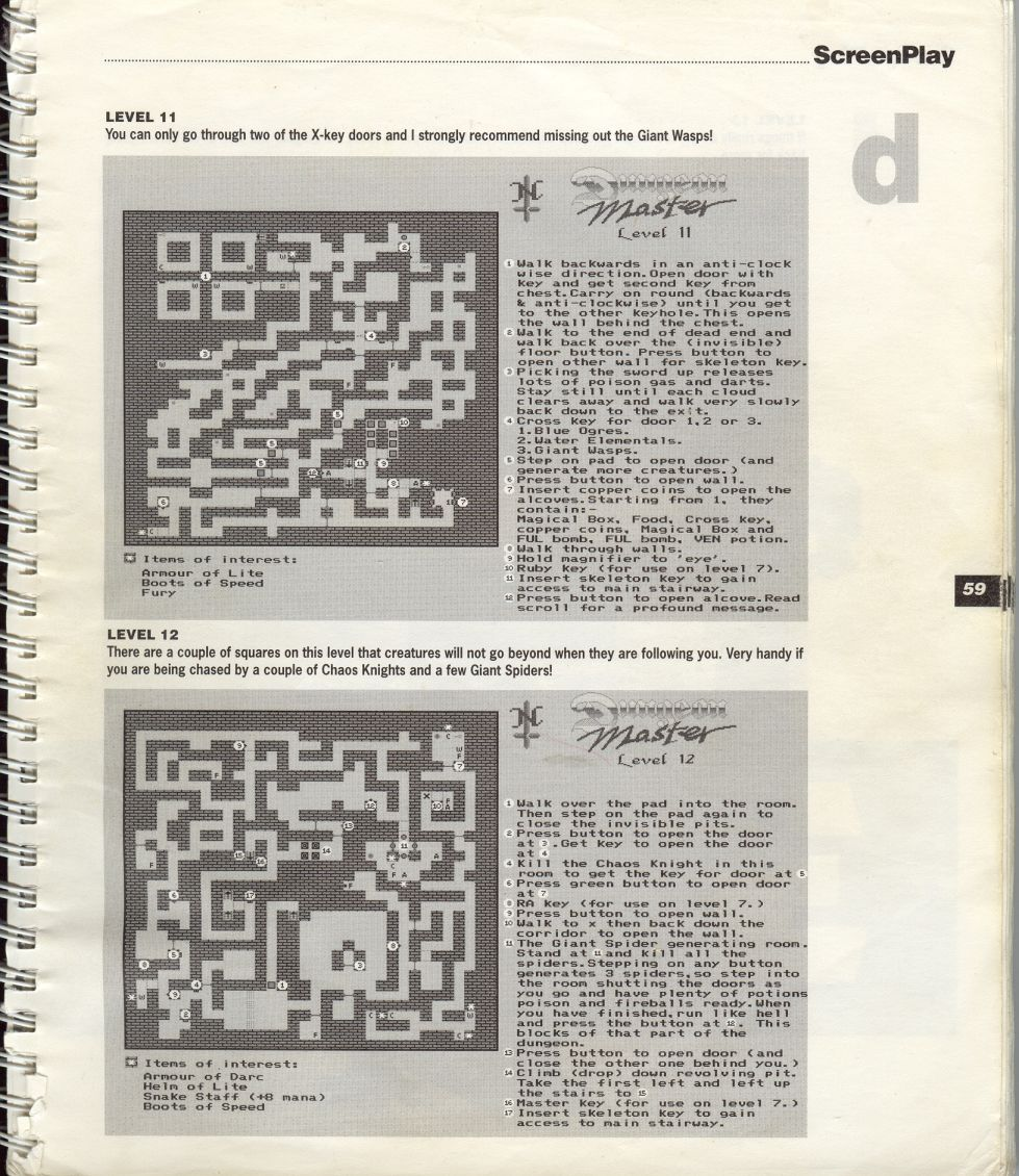 A guide by Bryan Stevens printed in the 'Screen Play' tips book by Amiga Format and Future Publishing Page 12
