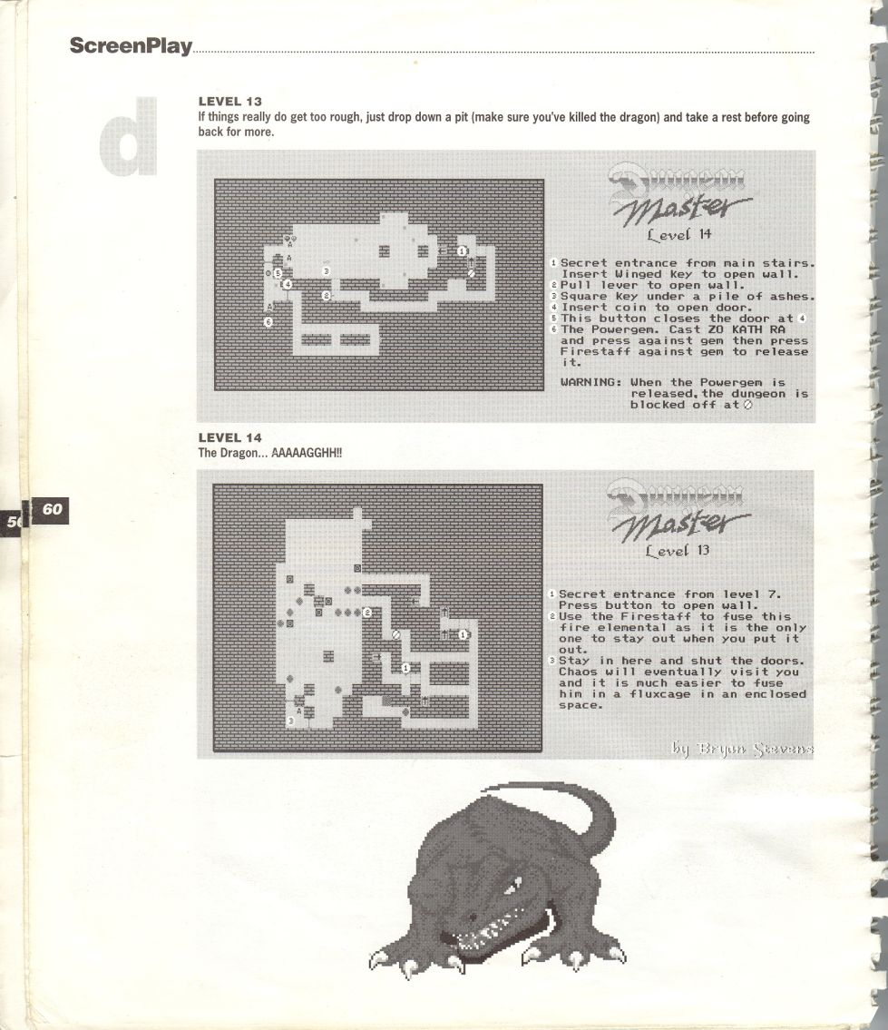 A guide by Bryan Stevens printed in the 'Screen Play' tips book by Amiga Format and Future Publishing Page 13