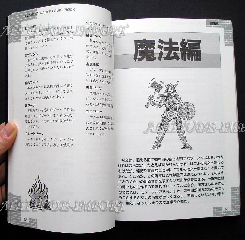 Hint Book - Dungeon Master Guide Book (Japanese) Sample 3