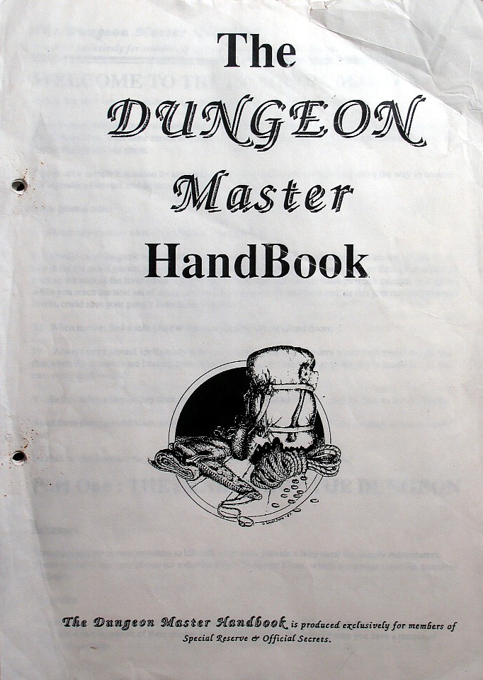 The Dungeon Master HandBook - Front Cover
