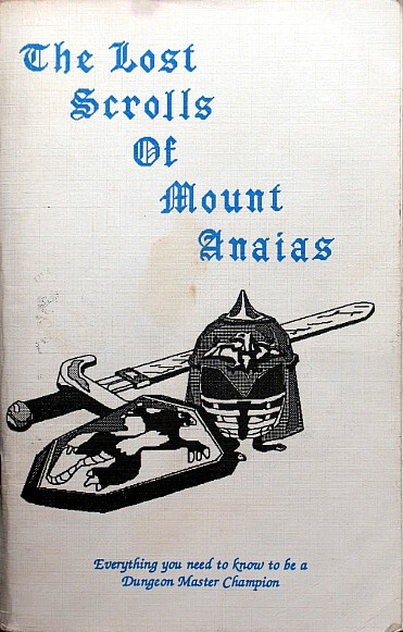 Dungeon Master The Lost Scrolls Of Mount Anaias - Front Cover
