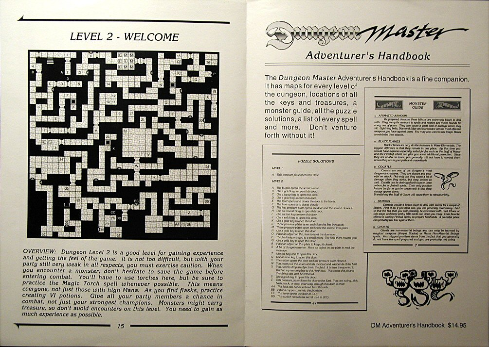 Advertisement for Dungeon Master Adventurer's Handbook (inside)