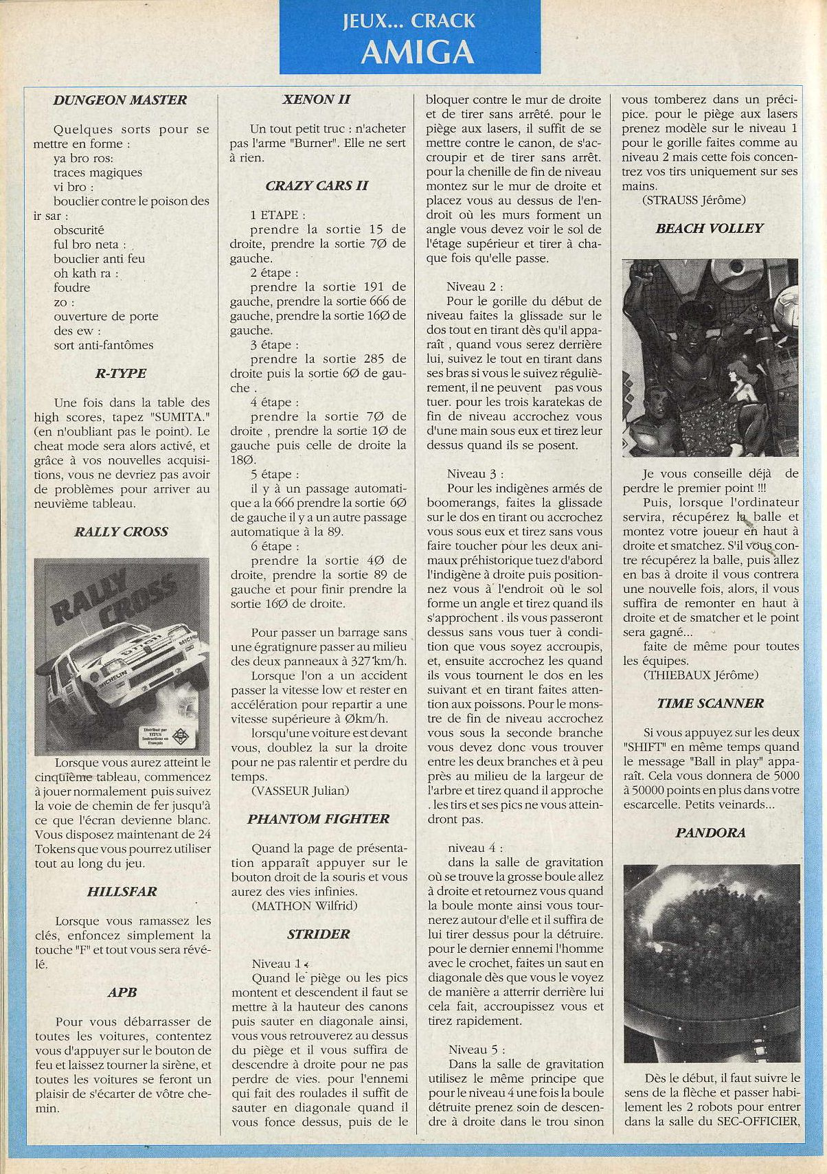 Dungeon Master Hints published in French magazine 'Joystick', Issue #2, February 1990, Page 64