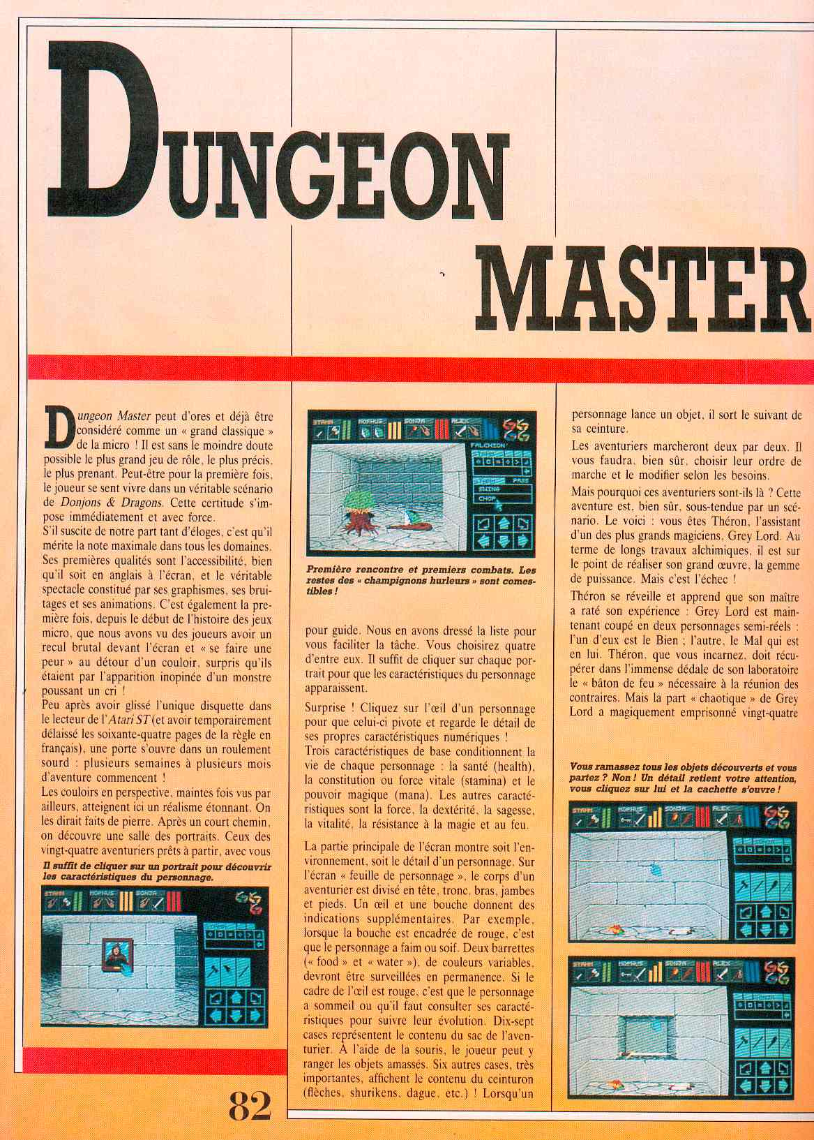 Dungeon Master guide published in French magazine 'Jeux et Stratégies', Issue #51, June 1998, Page 82