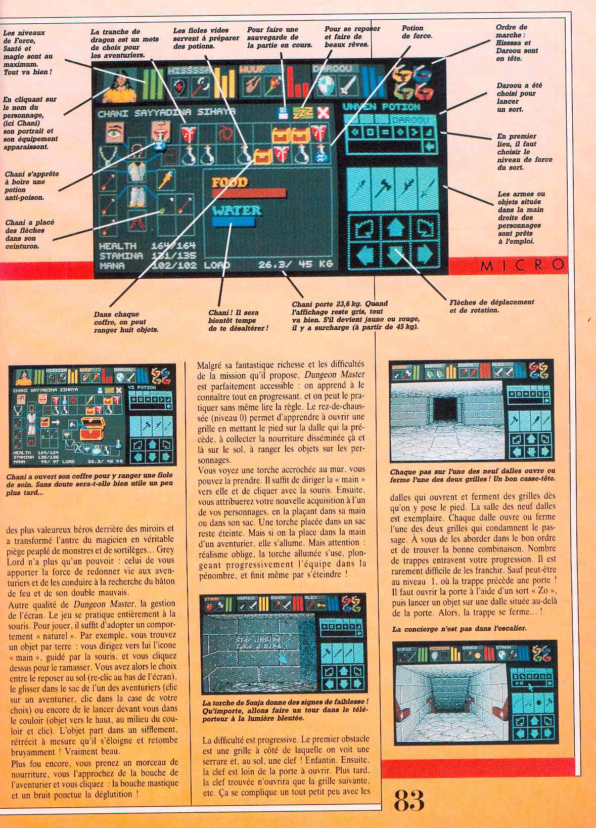 Dungeon Master guide published in French magazine 'Jeux et Stratégies', Issue #51, June 1998, Page 83